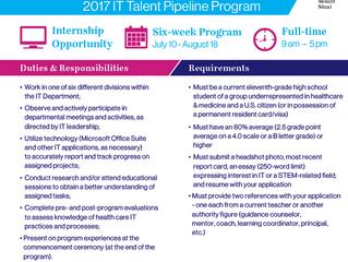 Mount Sinai 2017 IT Paid Internship