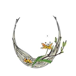 Alphabet Ikebana: U