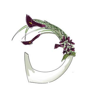 Alphabet Ikebana: D