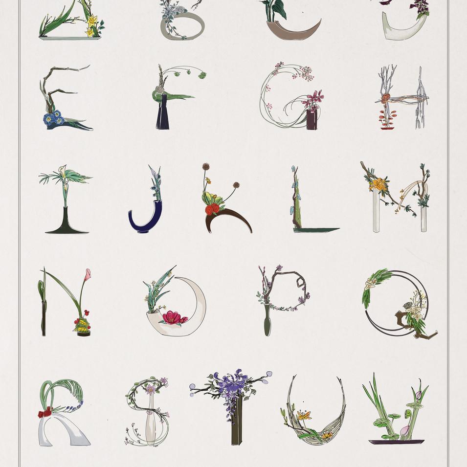 Alphabet Ikebana