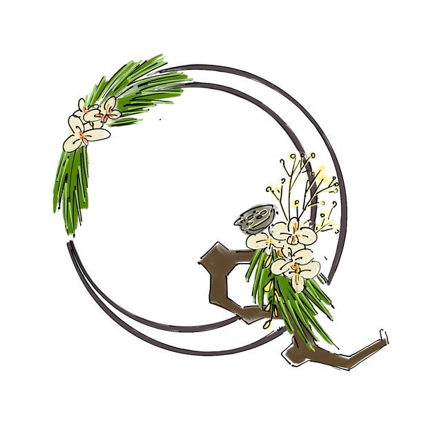 Alphabet Ikebana: Q