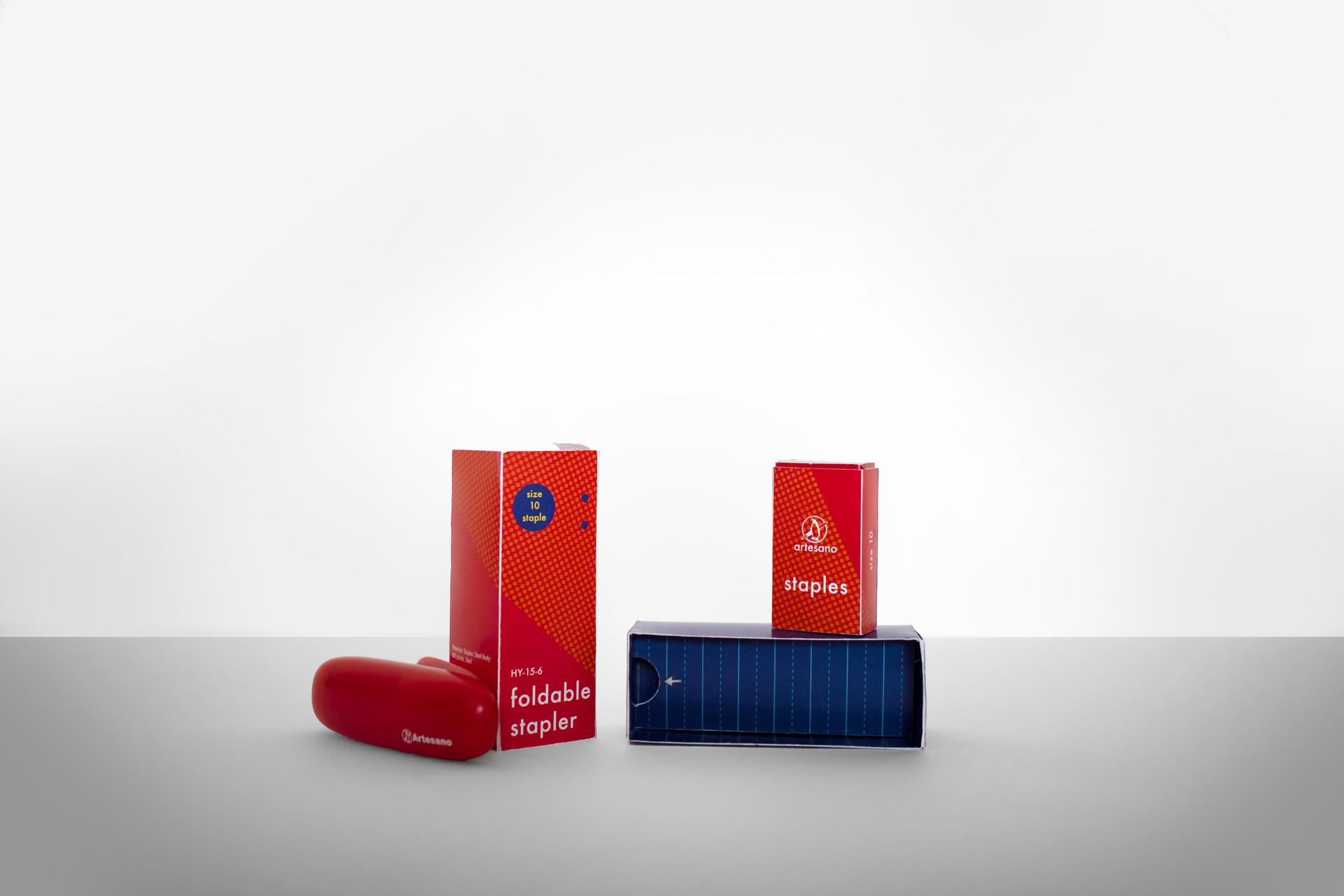 Artesano Foldable Stapler Package Design