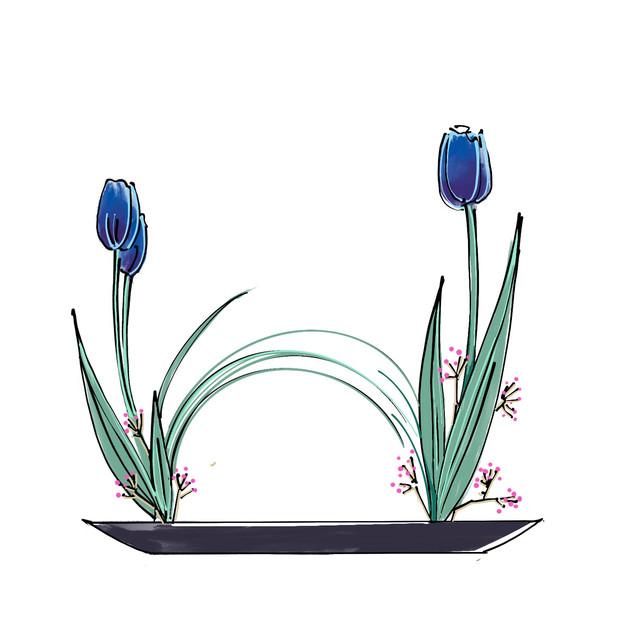 Alphabet Ikebana: W