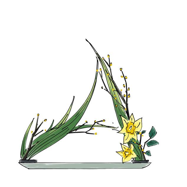 Alphabet Ikebana: A