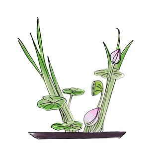 Alphabet Ikebana: V