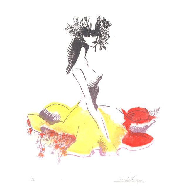 Flower Under her Skirt 2