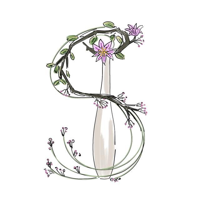 Alphabet Ikebana: S