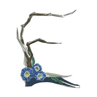Alphabet Ikebana: E