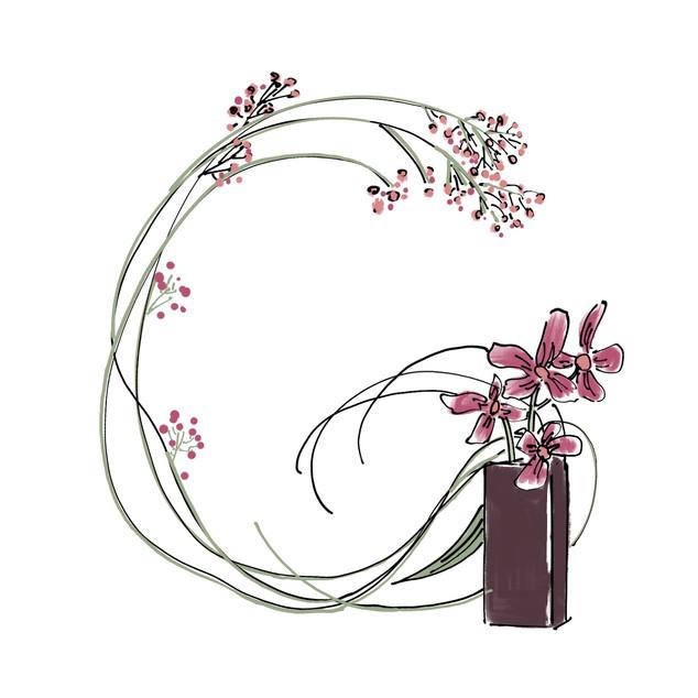 Alphabet Ikebana: G