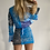 Thumbnail: Patchwork blue bandana blazer top