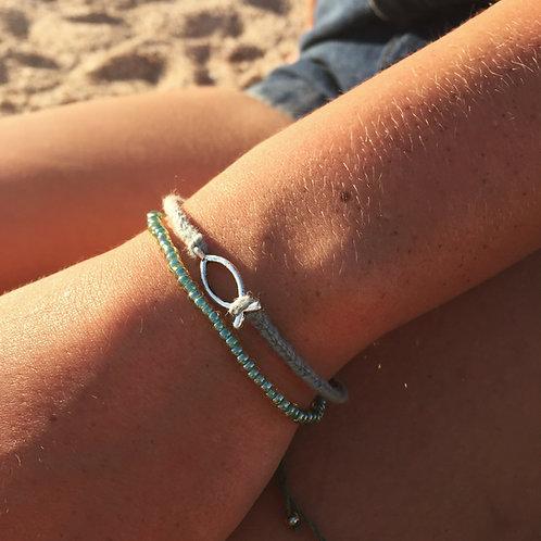 Fish plait bracelet