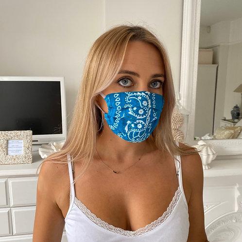 Turquoise bandana facemask