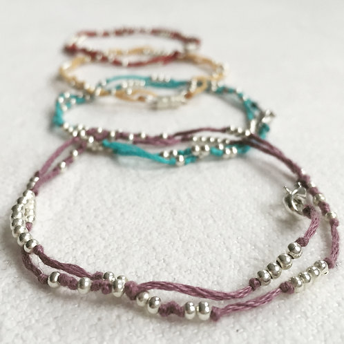 Double beaded anklet