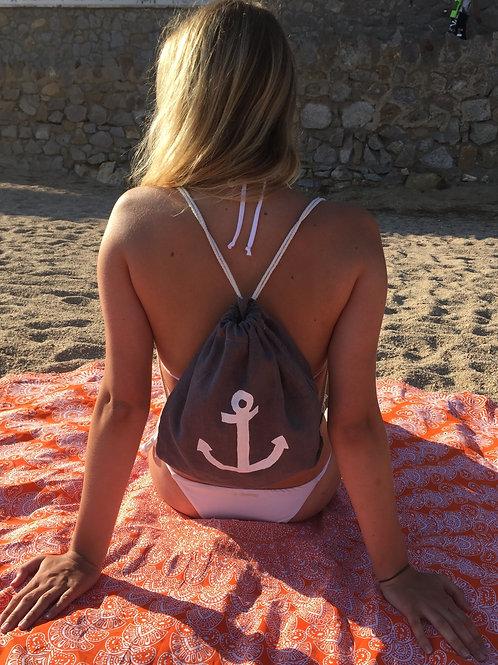 Draw string beach bag