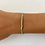 Thumbnail: Blue beaded tie bracelet