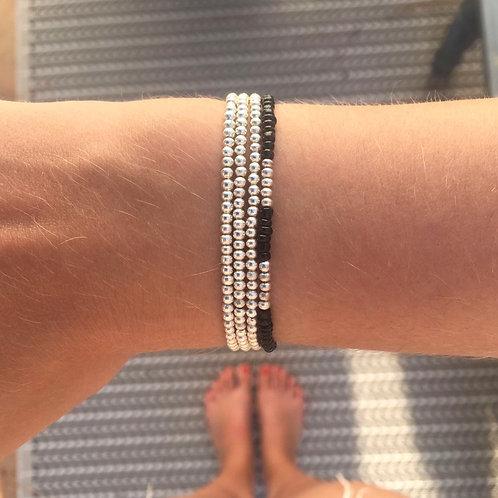 Silver trio bracelet