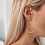 Thumbnail: Large Silver Beaded Hoops