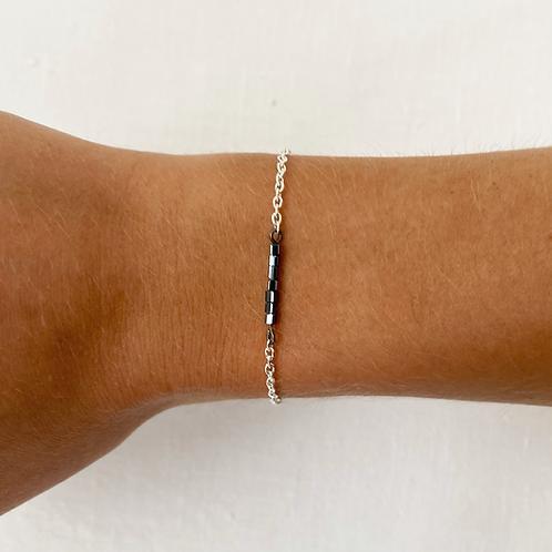Midnight chain bracelet