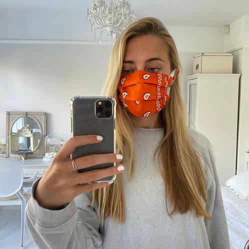 Bright orange bandana facemask