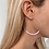 Thumbnail: Large Pink Beaded Hoops