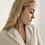 Thumbnail: Cream linen blazer dress