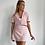 Thumbnail: Short sleeve baby pink linen shirt