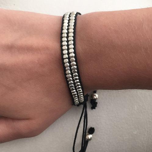 Matte silver bracelet