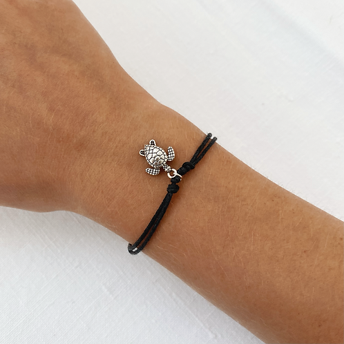 Turtle tie bracelet