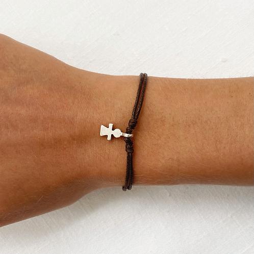 Dress charm tie bracelet