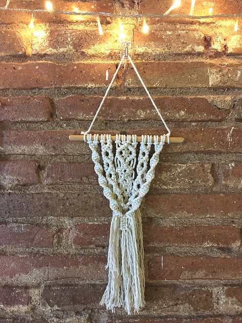 Mini tri wall hanging