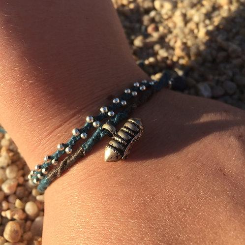 Silver plait bracelet