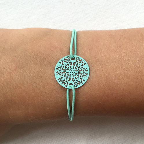 Mint circle bracelet