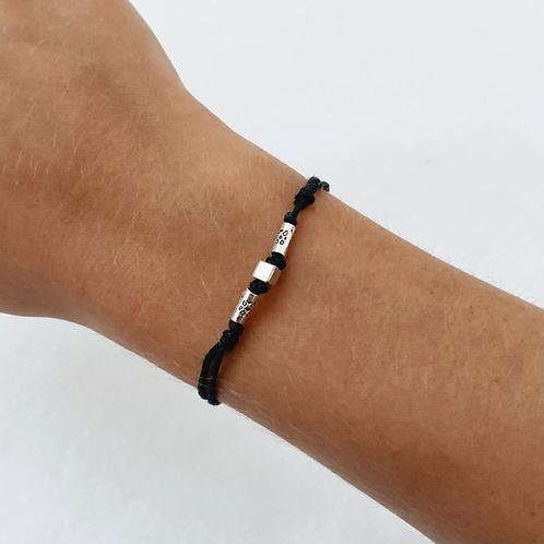 Aztec tie bracelet