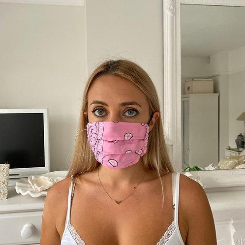 Pink bandana facemask