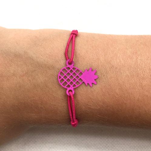 Fuchsia pineapple bracelet