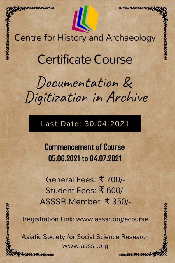 Documentation and Digitization in Archive