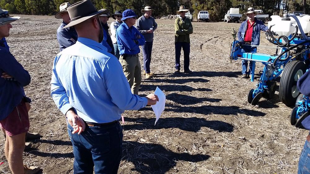 Joe Eyre of UQ-QAAFI discussing planter technology for early season crop establishment