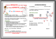 STAGE DE KARATÉ MAKOTO 17-21 FEVRIER