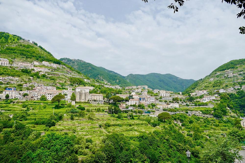 Vue depuis le village de Ravello