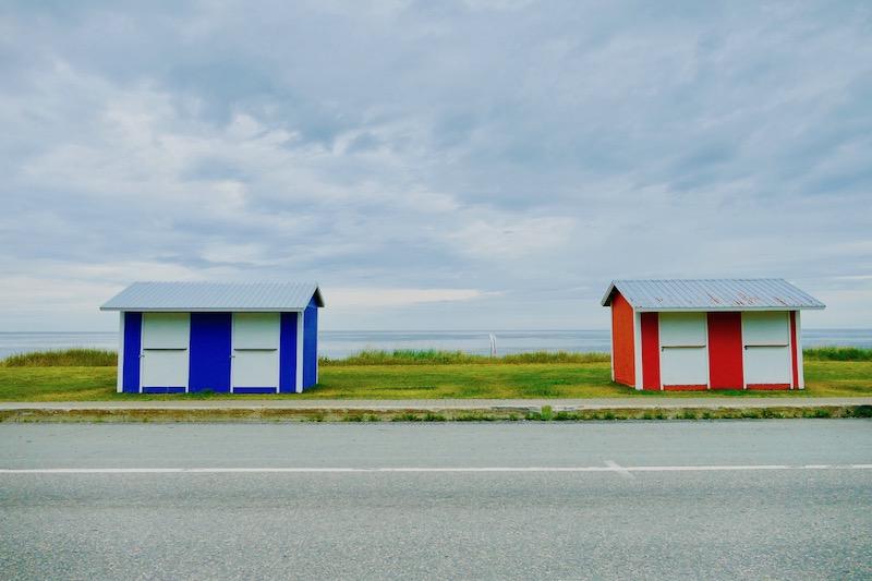 La route 132 entre Matane et Gaspé