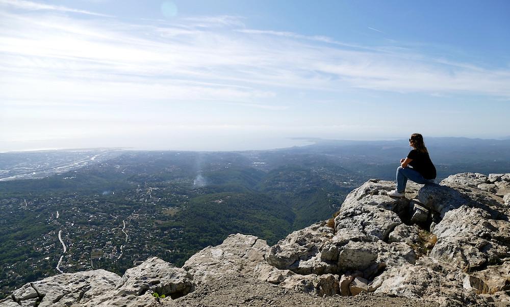 Au sommet du Baou de Saint-Jeannet