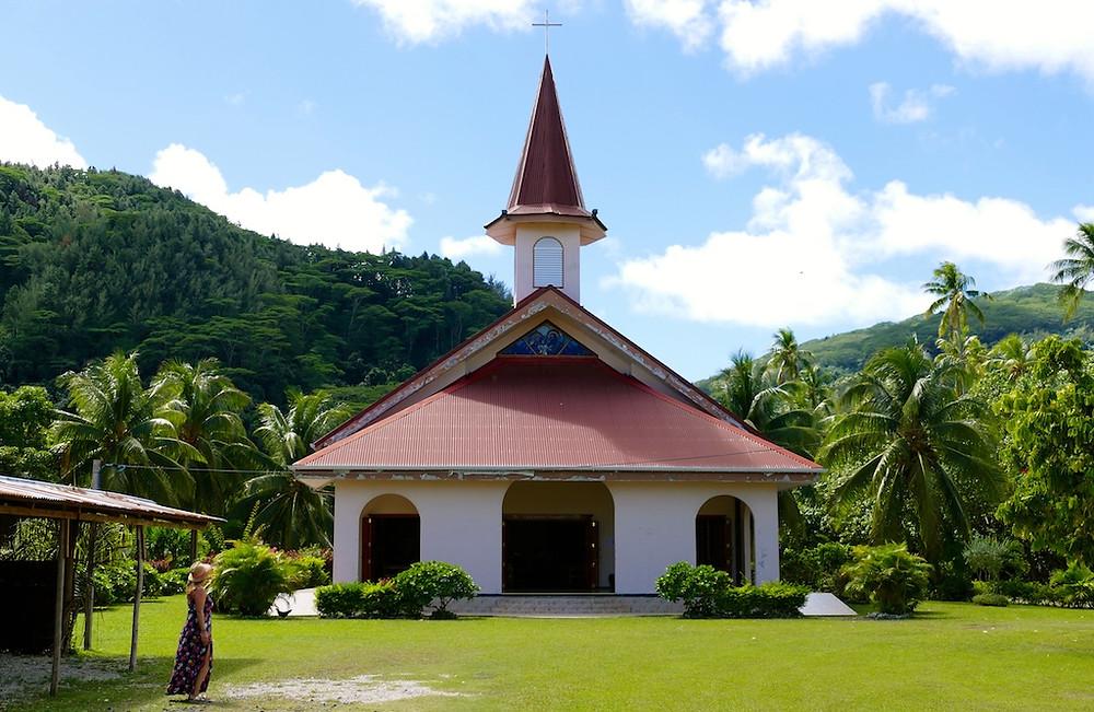 Eglise de Huahine en Polynésie