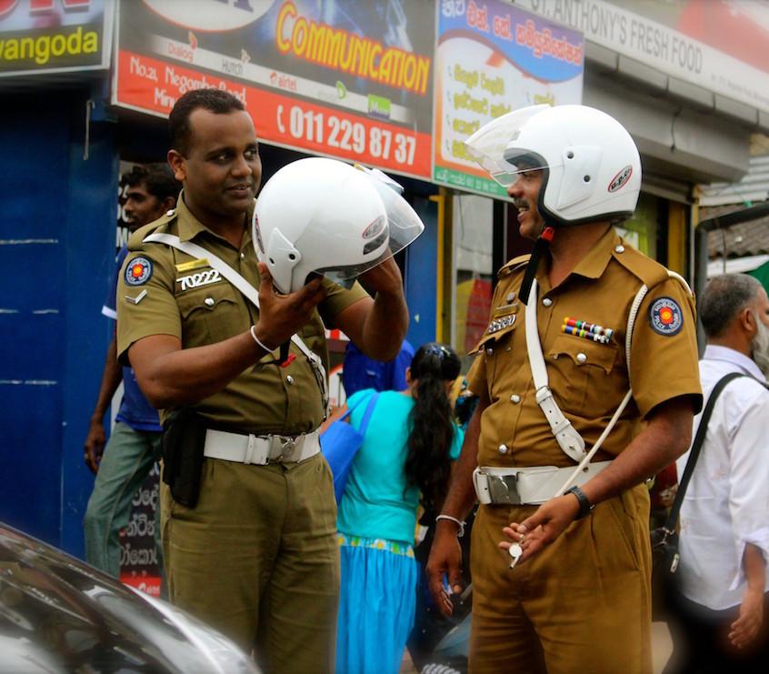 La police sri lankaise