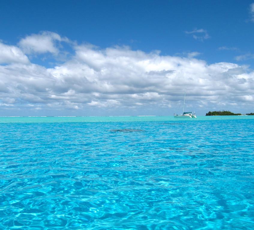 Au large du lagon à Bora