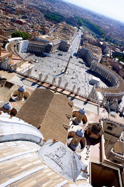 Vue du haut de la basilique St Pierre