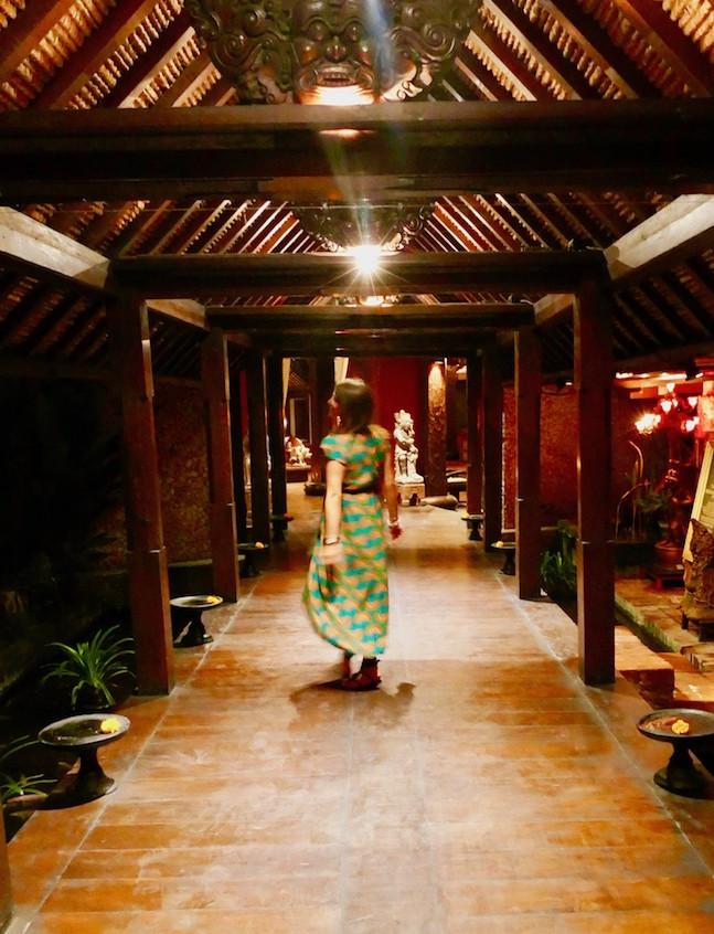 Entrée du Tugu Hotel à Canggu