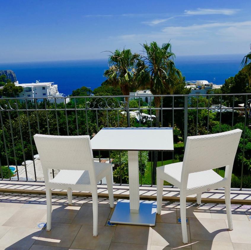 Vue de l'hôtel Syrene à Capri