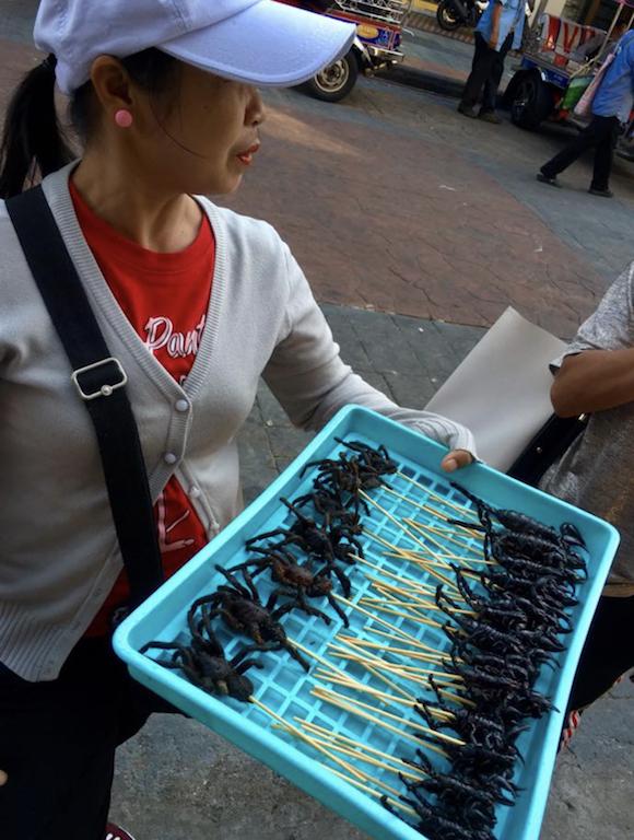 Les scorpions en brochette à Bangkok