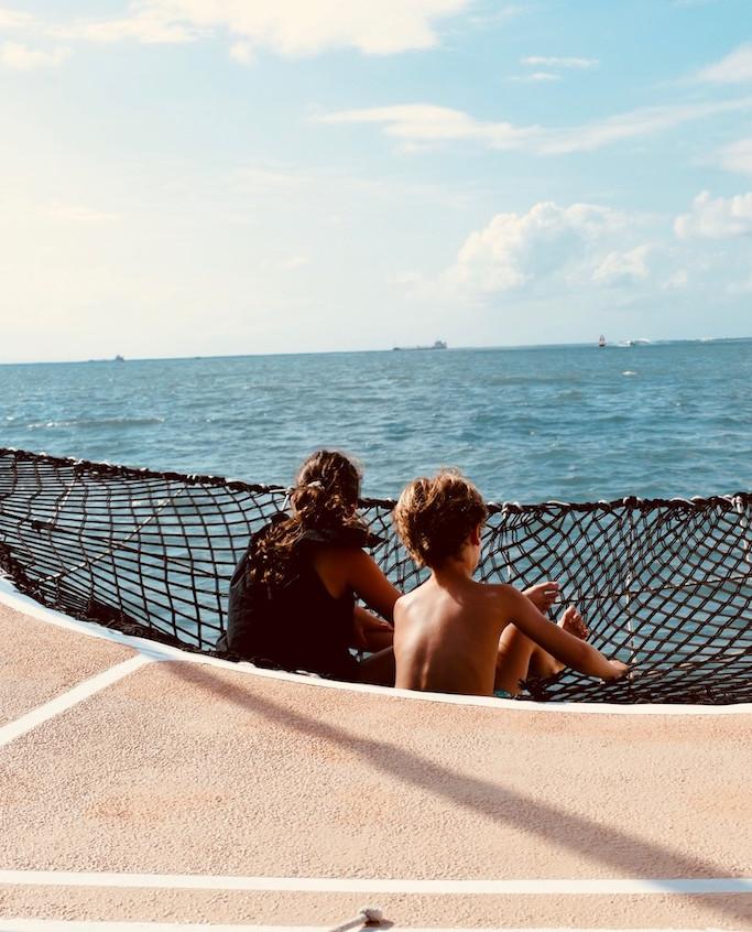 Sur le pont du bateau