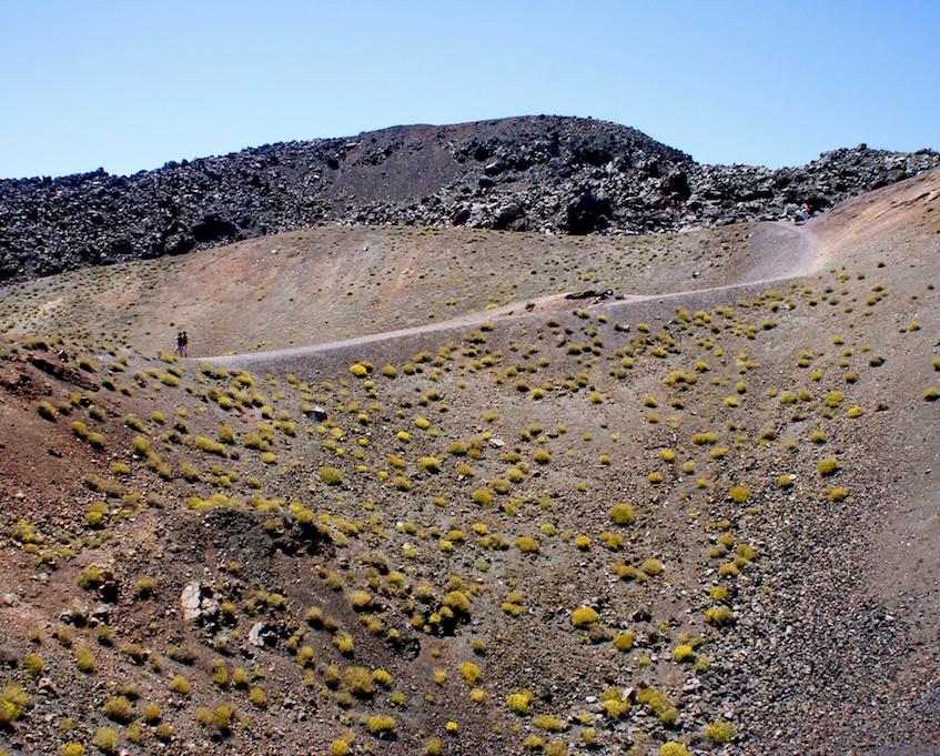 Ascension du volcan à Santorin
